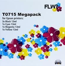 FLWR T0711/2/3/4 6-pack - Optie 45 Black And Color for FLWR Epson NON OEM