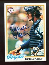 Darrell Porter Autograph Signed 1979 Topps Kansas City Royals DECEASED