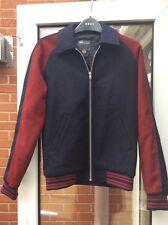 New Wool College / Varsity jacket coat XS Navy