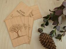 Wood Business Cards | Double-sided Business Cards | 100 Engraved Business Cards