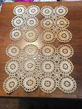 Vintage Doilies Lot Of Three