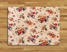 Work top saver, Glass Chopping board 40 x 30cm Floral Print design
