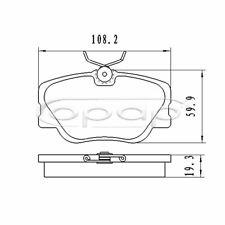 Bremsbelagsatz, Scheibenbremse, Vorderachse, Mercedes, 190 Coupe, E, BB08126
