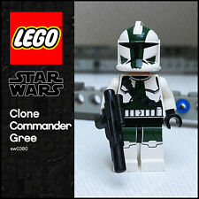 GENUINE Lego Star Wars Minifigure Clone Commander Gree SW0380