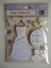K&CO DIMENSIONAL STICKERS - CLASSIC WEDDING dress