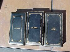 ORIGINAL WWII LOT OF 3 AIR MEDAL CASES