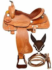 "New Leather Western Saddle With Free Tack (Seat Size 14""-18"")"