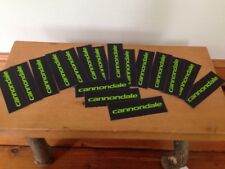 """Lot of 17 Cannondale Black Neon Green Bicycling Decal Laptop Car Stickers 4.5"""""""