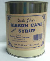 Uncle Johns Ribbon Cane Table Syrup 1 in a Metal 32 Fl Ozs Can weight 2Lb 7Oz