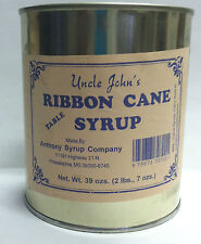 Uncle Johns Ribbon Cane Table Syrup in a Metal 39 Ozs Can