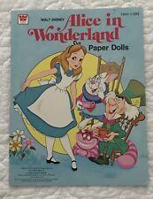 ALICE IN WONDERLAND PAPER DOLLS  WALT DISNEY  WHITMAN 1976  CLEAN AND UNCUT