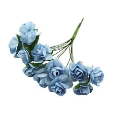 144 X Artificial Paper Rose Flower Wedding Craft Decor Light blue ZH