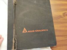 4 ASSORTED ALLIS-CHALMERS PARTS CATALOGS 1970'S AND 80'S GRAIN HEADERS,