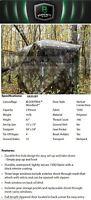 GR251BT NEW 2 Man Barronett Grounder Hunters Blind Woodland Bloodtrail Camo