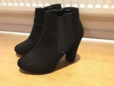 New Look Black Heeled Boots Size 6