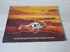 Textron Bell Jetranger Helicopter III Magazine Promotional Promo Manual Vintage