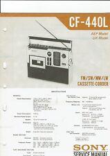 Sony Original Service Manual für CF- 440