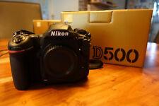 Nikon d500 20.9 MP-Noir (seulement Boîtier) DX CMOS 4k milmeit XQD SDHC SDXC