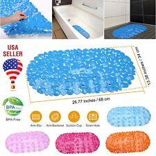 "Us Bath Mat Non Slip Anti Bacterial Bath Tub mats Pebbles Shower Mat 26"" x 13"""
