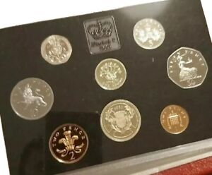 1986🔹️Proof Set of 8x Coin Set by The Royal Mint +COA GB UK