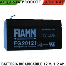 Batteria Ricaricabile Fiamm P/B 12 V 1,2 Ah. VRLA Ermetica x Antifurti Strumenti