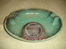 Vintage The Hyde Park No. 1950 Ashtray-Roseville Pottery-Initialed Center-Glazed