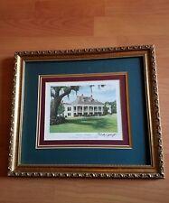 """Brad Thompson Framed Art work from Original Oil painting """"Destrehan Plantation"""""""