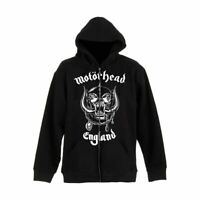 Motorhead England Black Zip-Up Hooded Sweater - Unisex Jacket