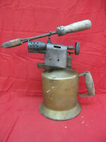 Vintage Otto Bernz Co. Gas Blow Torch WITH Soldering Iron