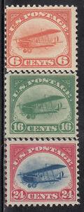 USA  Airmail  Scott  C 1-3  value $ 390.oo