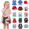Toddler Kids Baby Girls Santa Princess Dresses Christmas Costume Party Clothes