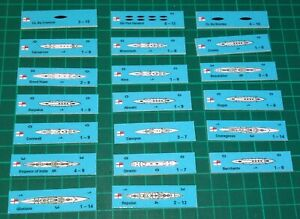 Jutland variant counters, for Avalon Hill, 28 new counters.+ 4 new battles
