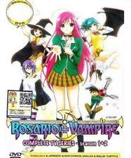 DVD Rosario + Vampire Complete TV1-26en Series Season 1+2 English Dub Well Pack