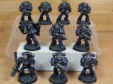 10 Plastique space marine tactical squad bien peint (802)
