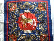 """HERMES SCARF Silk """"Cheval Turc"""" by Christiane Vauzelles Vintage 90cm 100% silk"""