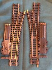 #850 & #851 used HO BRASS REMOTE CONTROL SWITCH TURNOUTS LEFT & RIGHT HAND