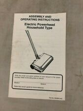 Assembly and Operating Instructions Electric Powerhead Household Type 59596A