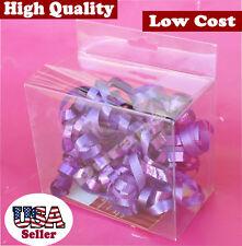 "50 PCS  4-5/16x2-3/8x3-9/16"" Clear Plastic PVC Box W/ Hang Tab Retail Display"
