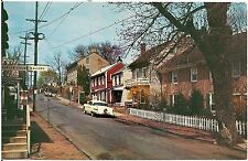 View on Mechanic Street in New Hope PA Postcard