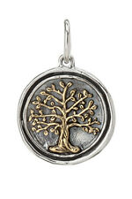 WAXING POETIC TREE OF LIFE CHARM Pendant Wing and a Prayer Sterling Silver Brass