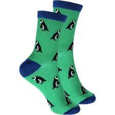 cosey dünne Socken – Pinguin grün (40-45) 1 Paar - Baumwolle atmungsaktiv weich