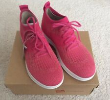 Ladies Fitflop Uberknit High Top Sneaker - Fuschia/Dusky Pink - UK5  BNIB