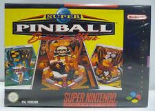 SUPER PINBALL - BEHIND THE MASK - SNES SUPER NINTENDO PAL - BOXED