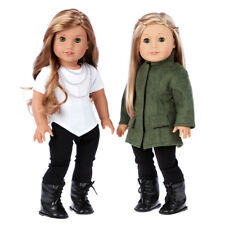 Autumn Stroll - Doll Outfit for 18 inch AG Doll - Coat, Blouse, Leggings, Boots