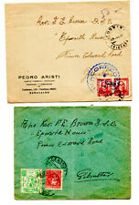 TWO INTERESTING SPANISH CIVIL WAR POSTAL HISTORY ITEMS