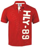 Mens Short Sleeve Plain Polo Shirt T Shirt Top Casual Cotton Mix Vintage