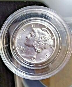 1943-D Denver Mint 90% Silver Mercury Dime (Uncirculated)