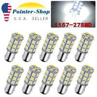 10X 1157 White 27SMD 5050 LED Brake Tail Back Up Reverse Light Bulbs 12V 1142