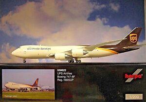 Herpa Wings 1:200 Boeing 747-8F Ups Airlines N605UP 558822 Modellairport500