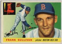 1955 Topps #106 Frank Sullivan ROOKIE RC VG-VGEX Boston Red Sox FREE SHIPPING